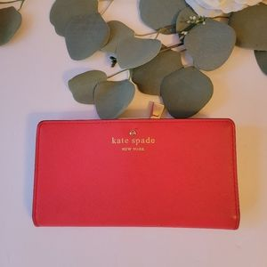 Kate spade bifold coral wallet